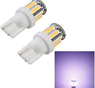 YouOKLight™ 2PCS T10 5W 400lm 10-SMD7020  6000K  White Light LED Car Bulb Light(12V)