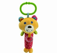 Babyfans ™ Stuffed Cartoon Animal Cute Bear Baby Soft Rattle Toys
