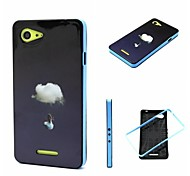 2-in-1 Swing Girl Pattern TPU Back Cover with PC Bumper Shockproof Soft Case for Xperia E3