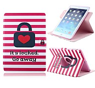 Hot Sale Heart Pattern PU Leather Full Body Case with Card Slot and Stand for Apple iPad 2/3/4
