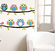 окружающей среды съемный милые совы ПВХ стикер стены