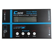 LXM-01  C606 60W DC 11-18V With LCD Screen Universal Lipo Battery Balance Charger