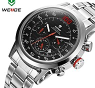 WEIDE® Men's Watch Japan Quartz Movement 30m Water Resistant Calendar Stainless Steel Wristwatches