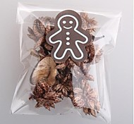 5PCS 3 Color Crafts Gingerbread Man Seal(5*6=30)