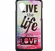 Life Pattern PC Hard Case for LG Nexus 5/E980