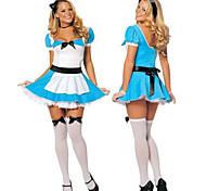 Alice in the Wonderland Cute Maid Blue Polyester Women's Halloween Costume