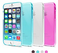 BIG D High Quality TPU Matte Soft Back Cover for iPhone 6(Assorted Color)