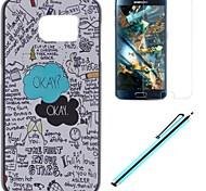 étui design cartoon pc avec un film et un stylo de capacité pour le G920 de Samsung Galaxy