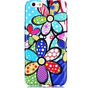 For iPhone 6 Case / iPhone 6 Plus Case Pattern Case Back Cover Case Flower Soft TPU iPhone 6s Plus/6 Plus / iPhone 6s/6