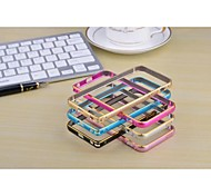 For iPhone 5 Case Other Case Bumper Case Solid Color Hard Metal iPhone SE/5s/5