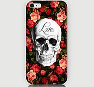 Roses Skulls Pattern Back Case for iPhone 6 Plus