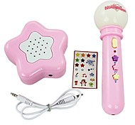 Electronic Toys Musical Instrument Battery-Operated Microphone with  Loud-speaker+9pcs Music+2pcs Accompaniment