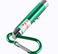 LS330 3in1 Mini Keychain Red Laser Pointer White LED Flashlight (1mW, 650nm,3XLR44,Green)