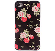 Rose Design Aluminum Hard Case for iPhone 4/4S