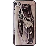 cas dur de conception en aluminium de voiture de dessin animé pour iPhone 4 / 4S
