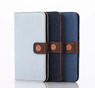 5.1 Inch Denim Pattern Wallet Leather Case with Pen for Samsung GALAXY S6 Edge G9250