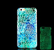 Flowers Pattern Glow in the Dark Hard Case for iPhone 6