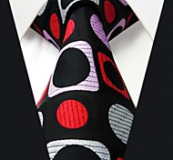 Q3 Shlax & Wing Men's Accessories Necktie Tie Geometric Black Red Fashion