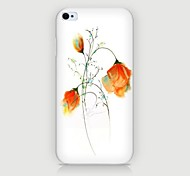Rose Pattern Back Case for iPhone4/4S