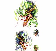 1pc New Chic Waterproof Temporary Tattoos Arm/Wrist/Hand Tattoos Colorful Dragon Body Tattoos(18.5cm*8.6cm)