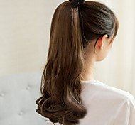 South Korean High-Temperature Wire Wig Brown Beautiful Pear Fluffy Ponytail Scroll 50CM