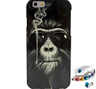 Hemming Orangutan Pattern TPU  Back Cover Case and Dust Plug for iPhone 6/6S