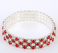 Exclusive Design Of Alloy And Rhinestone Bracelet (Multi-Colored)