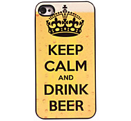 Keep Calm and Carry On Design Aluminum Hard Case for iPhone 5/5S