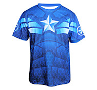 Arsuxeo  Quick Drying  Long Sleeve Cycling MTB Trail Jersey Captain America