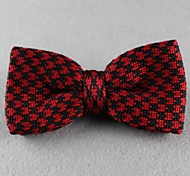 Gravata Borboleta (de Roupa de Malha , Vermelho) - Vintage/Pesta/Trabalho/Casual