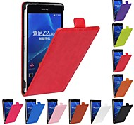 Genuine Crazy Horse PU Leather Slim Light Flip Case Cover for SONY Xperia Z2 (Assorted Colors)