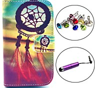 Dream Catcher Pattern PU Leather Case with Stylus and Dust Plug for Samsung Galaxy Fame S6810/S6818
