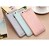 Special Design Solid Color Diamond/Rhinestone Decorated Case Ultra Slim TPU for iPhone 6 Plus (Assorted Colors)