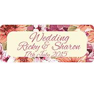Etiquetas Personalizadas/Adesivos Personalizados - Personalizado - Quadrado - de Papel Filmado Vermelho