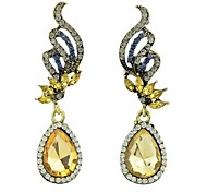 Fashion Design Long Rhinestone Women Earrings