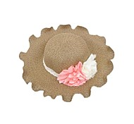 Women's Contrast Flower Curl Edge Summer Straw Hat (more colors)