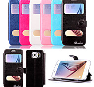 5.1 Inch Windows Pattern PU Wallet Leather Case for Samsung GALAXY S6 G9200