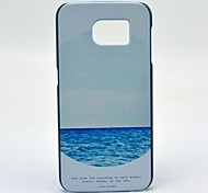The Sea Mirror Pattern Hard Case Cover for Samsung Galaxy S6