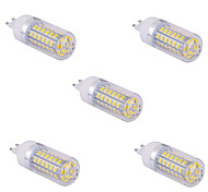 5 pezzi G9 15 w 60 x SMD 5730 1500 lm 2800-3200 / 6000-6500 k bianco caldo / freddo bianco di mais lampadine 110/220 V ca V