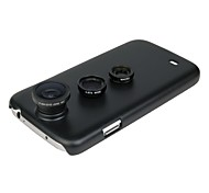 3 in 1 180 Fisheye Wide Angle Macro Lens Kit for Samsung Galaxy S4 SIV GT-I9500(Assorted Color)