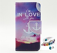 Anchors Pattern PU Leather Full Body Case Dustproof Plug With for iPhone 5/5S