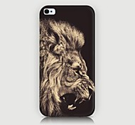 Lion's Head Pattern Back Case for iPhone4/4S