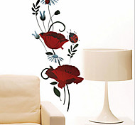 Environmental Removable Beautiful Red Rose PVC Tags & Sticker