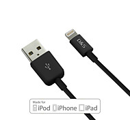 d&s IMF certificada de datos de sincronización USB de 8 pines / cable de carga para el iphone 5 / 5s / 6/6 más (120 cm)