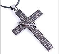 Tina -- Fashion Men's Titanium Accessories Leather Necklace in Daily