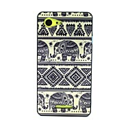 2-in-1 Bumblebee Elephant Carpet Pattern TPU Back Cover for Xperia E3