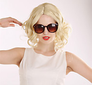 Fashion Short Curly Blonde Wig