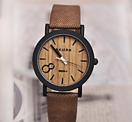 Men's Watch Vintage Wooden Surface Quartz PU Band(Assorted Colors)