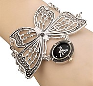Women's Ladies Royal Fashion Black Butterfly Chain Band Watch Casual Elegant Bracelet Dress Watches