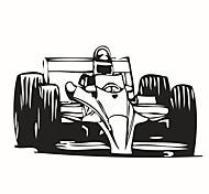 Environmental Removable Racing Car PVC Tags & Sticker